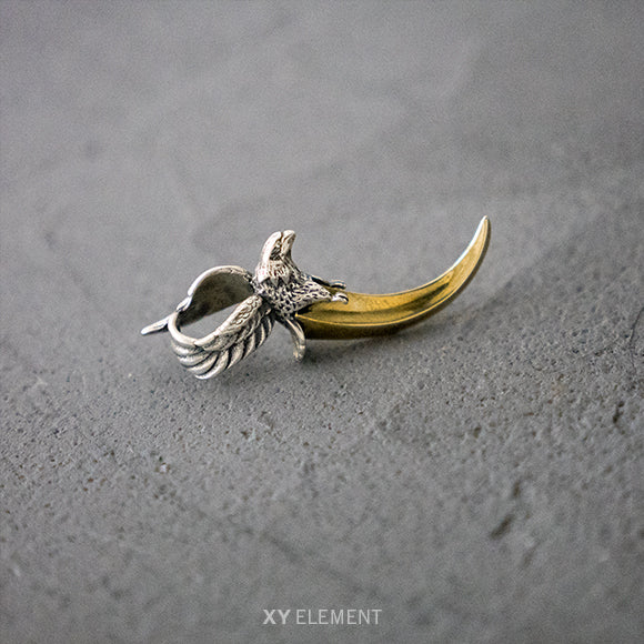 Goro's Style Eagle Horn 925 Sterling Silver Pendant
