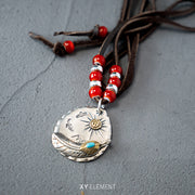 Goro's Native American Style Pendant 925 Sterling Silver Necklace