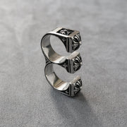 2 Finger Knuckle Double Ring Gothic Punk Rock Bike Ring