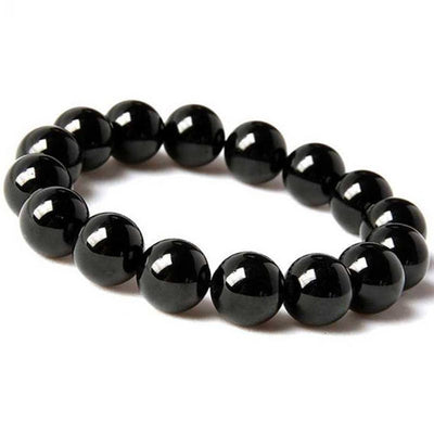 10mm Black Tourmaline Genuine Gemstones Bracelet