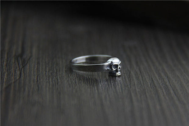 Small Skull Ring Pinky Ring 925 Sterling Silver