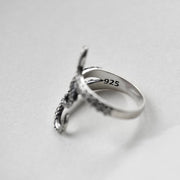 Octopus Ring 925 Sterling Silver Adjustable Tentacles Statement Ring
