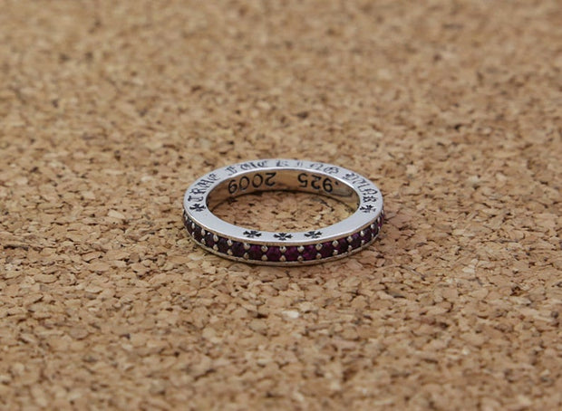 Stackable Ring with CZ 925 Sterling Silver