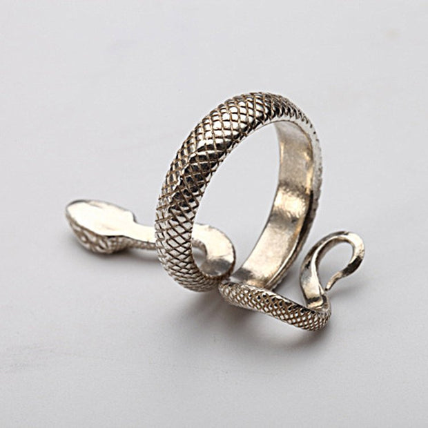 Stylish Viper Serpent Ring Solid Sterling Silver Snake Ring