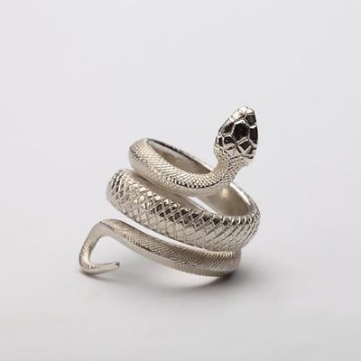 Viper Serpent Snake Ring Solid 925 Sterling Silver