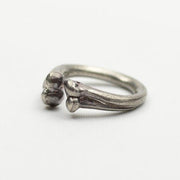 Silver Bone Ring Pinky Ring Gothic Ring Punk Rock Biker Ring