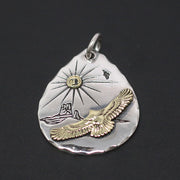 Goro's Native American Style 925 Sterling Silver Pendant Necklace