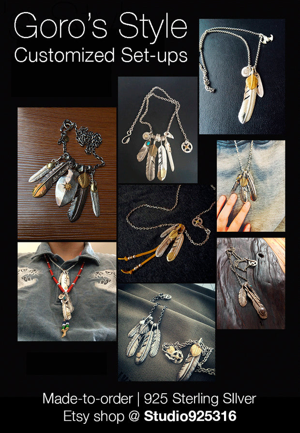 Japanese Silver Feather, Native American Inspired, Tribal Jewelry