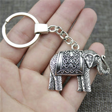 Silver - Indian Elephant Keychain