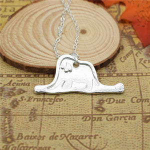 Silver - Little Prince Elephant Necklace
