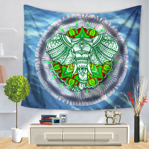 Colorful Elephant Throw