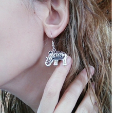 Tibetan Hanging Elephant Earrings