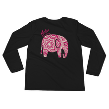 HTE Ladies' Long Sleeve Pink Mandala T-Shirt