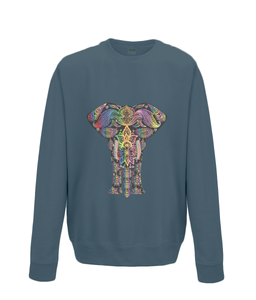 Rainbow Paisley Elephant Sweater