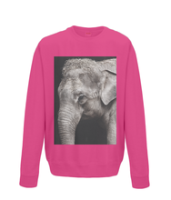 Monochrome Baby Elephant Sweater