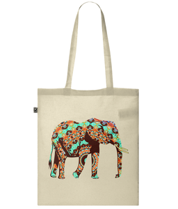 Mandala Elephant Organic Cotton Tote Bag