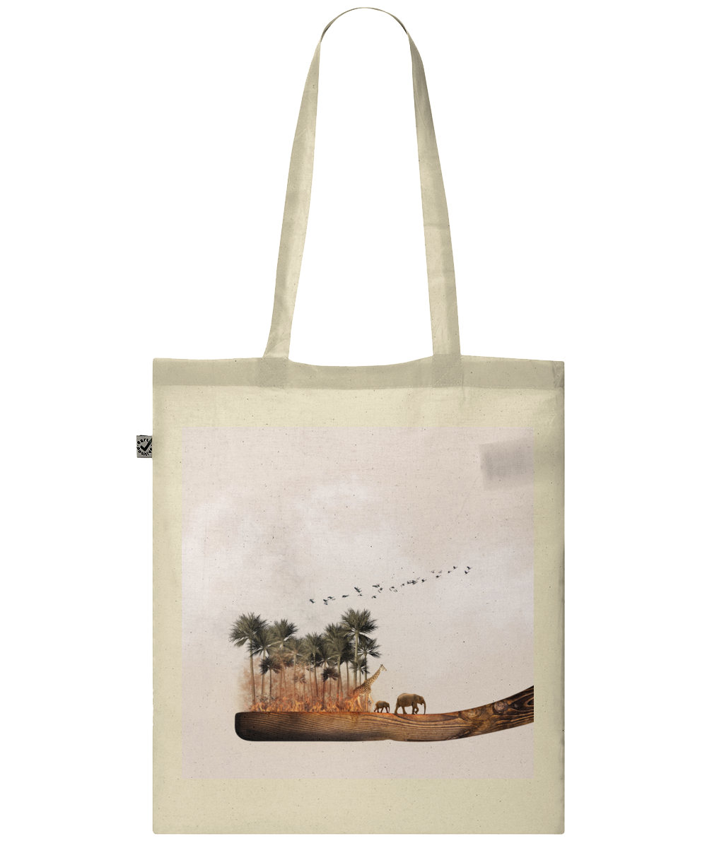 Forest Fire Organic Cotton Tote Bag
