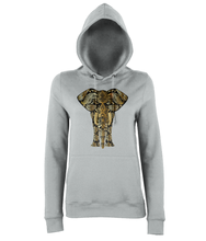 Gold Paisley Elephant Hoodie