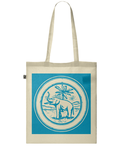 Elephant & Palm Tree Tote Bag