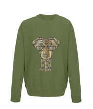 Gold Paisley Elephant Sweater