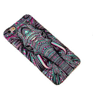 Glow in the Dark Colourful Elephant Phone Case for iPhone 5 5E SE / 6 6S / 6S Plus / 7 / 7 Plus