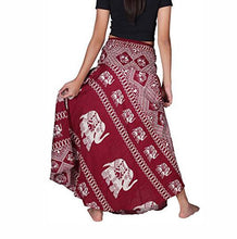 Boho Elephant Skirt in Red