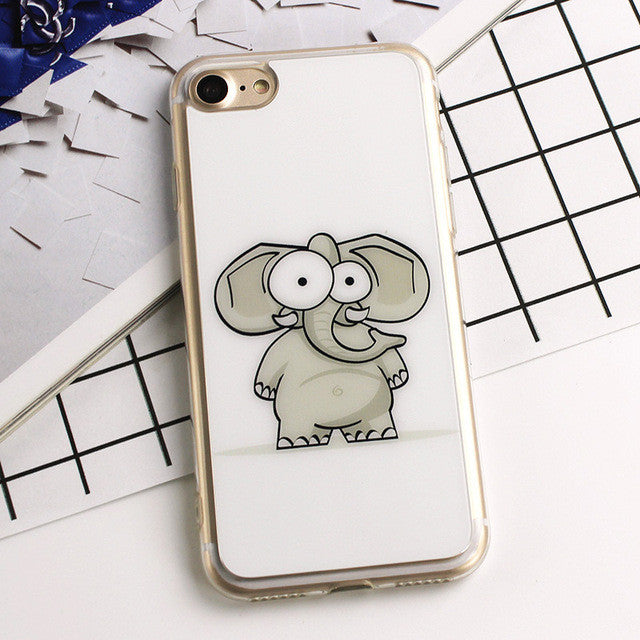 Cartoon Elephant Phone Case for iPhone 6 6S / 6 6S Plus / 7 / 7 Plus
