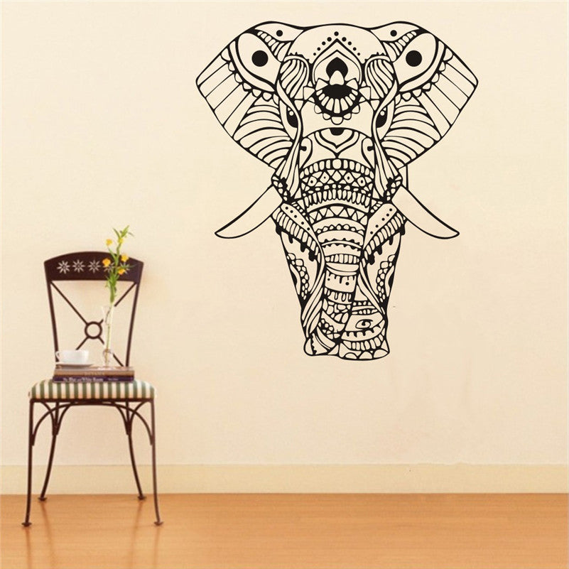 Henna Elephant Wall Sticker