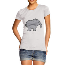 Women's Cute Baby Elephant Graphic Premium Cotton T-Shirt 2017 Summer Harajuku Brand Women T Shirts Clothing  Wholesale