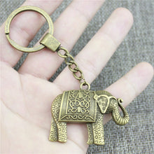 Bronze - Indian Elephant Keychain