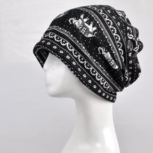 Black - Indian Mandala Elephant Beanie