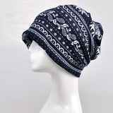 Blue - Indian Mandala Elephant Beanie
