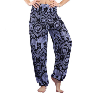 Blue - Boho Harem Indian Trousers/Pants