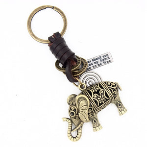 Vintage Indian Elephant Keychain