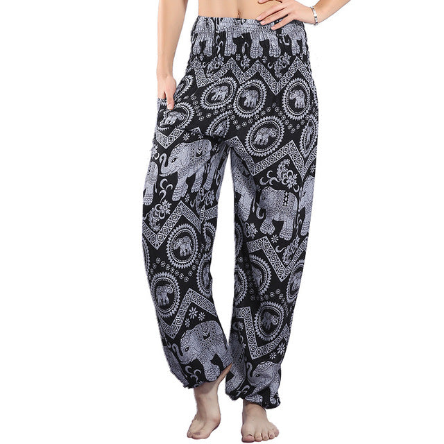 Grey - Boho Harem Indian Trousers/Pants