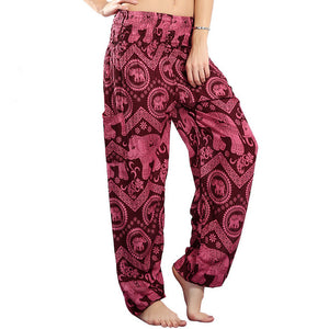 Wine - Boho Harem Indian Trousers/Pants