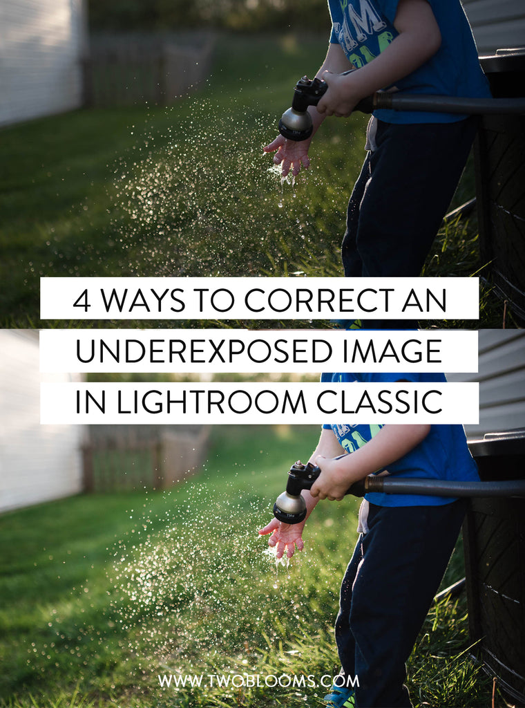 fixing an underexposed image in Lightroom