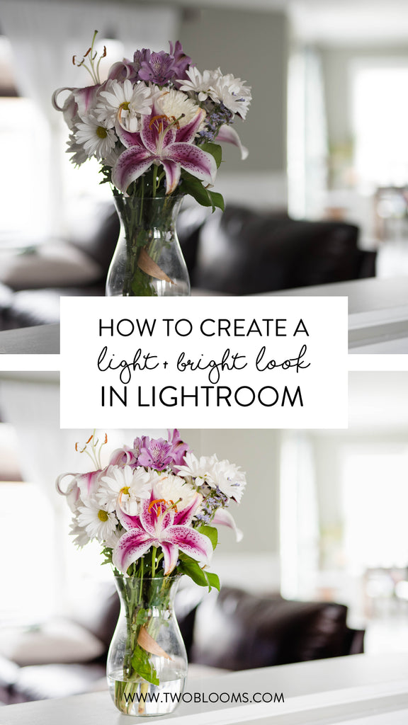 how to create a light & airy look in Lightroom
