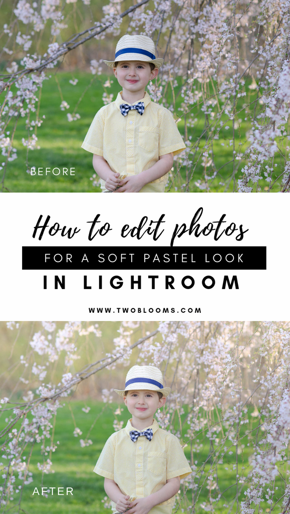 Light & airy look lightroom photo editing for spring