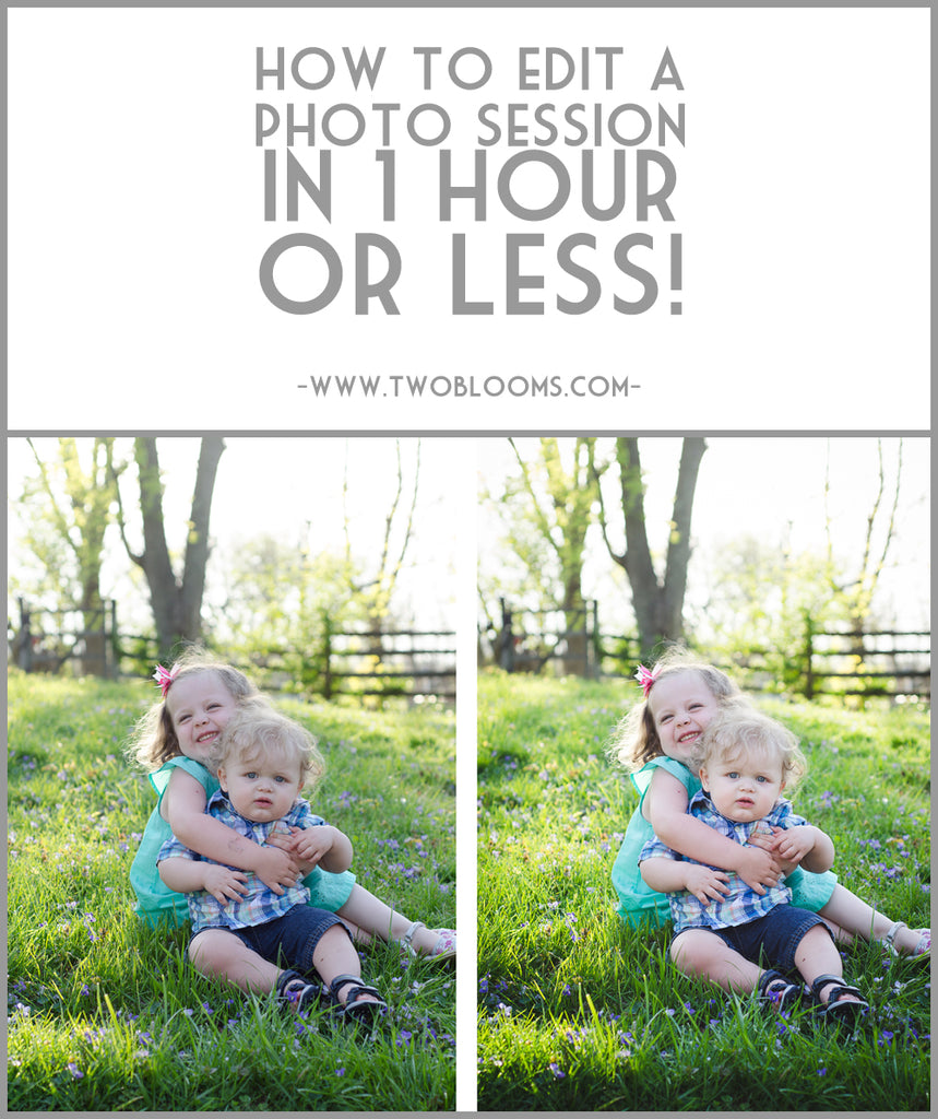 how to edit a photo session in 1 hour