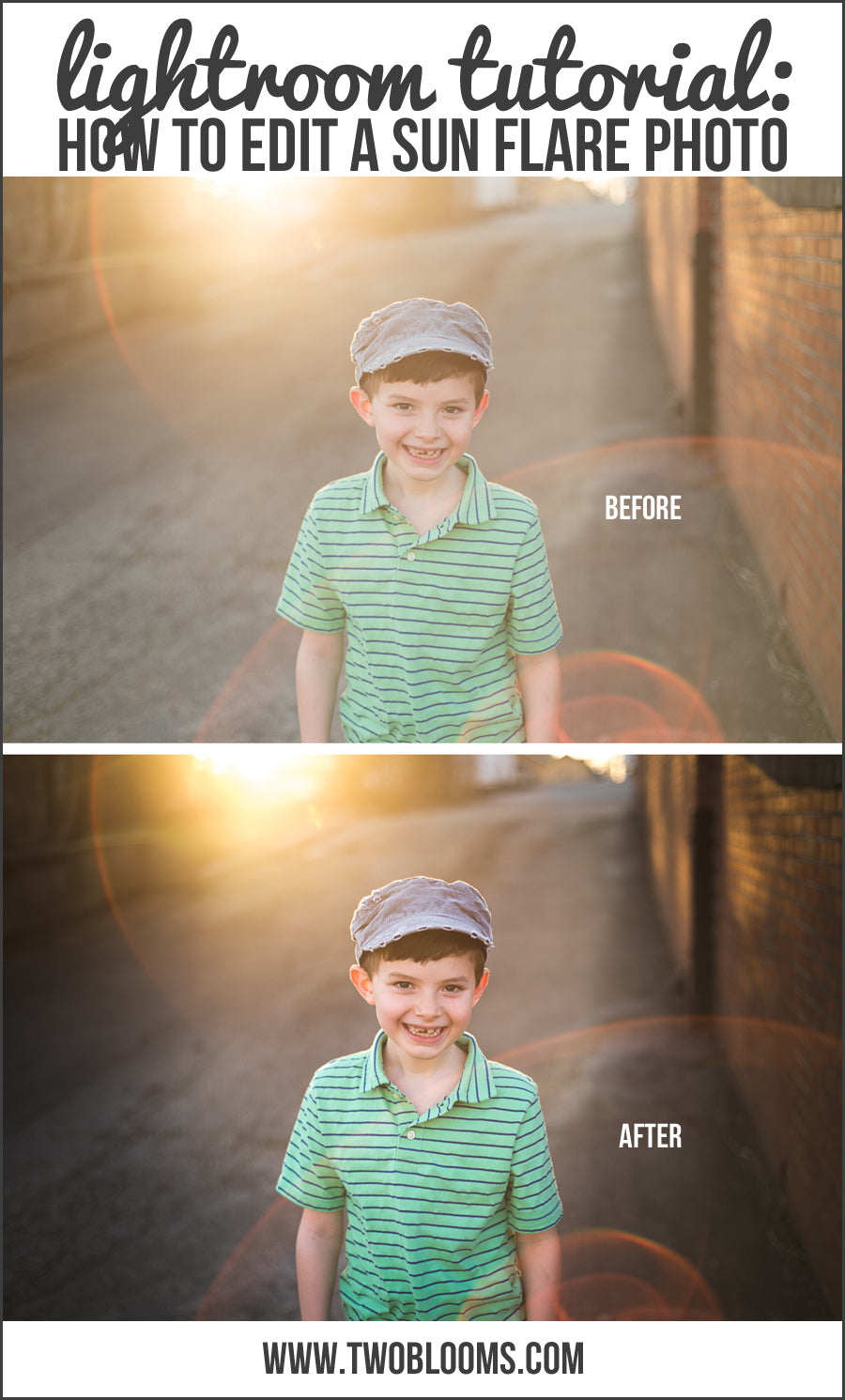 how to edit a sun flare photo in lightroom