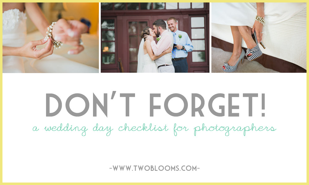 wedding day checklist for photographers