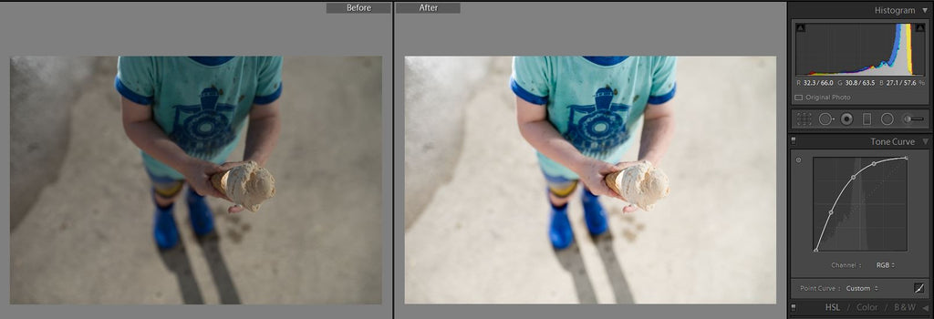 lightroom tone curve edit