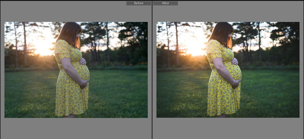 lightroom preset before & after