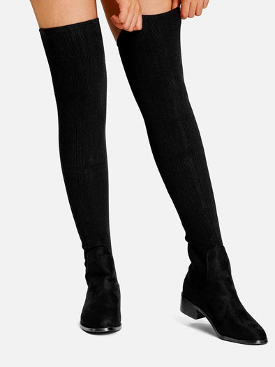 Over The Knee Knit Boots