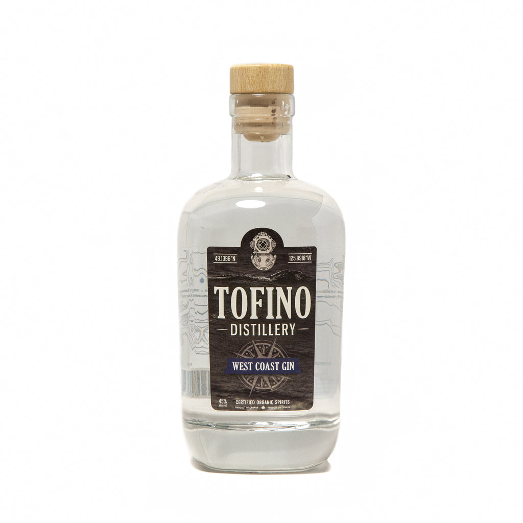 Tofino Distillery's Original West Coast Gin made locally in Tofino, BC. Enjoyed responsibly by cocktail lovers in Vancouver, Victoria, All over British Columbia and Canada.