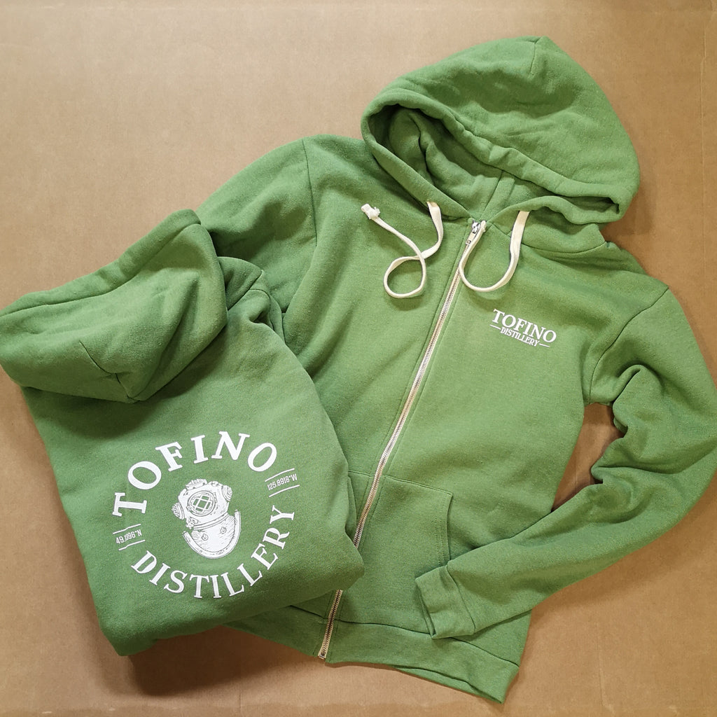 ZIP UP HOODIE - green