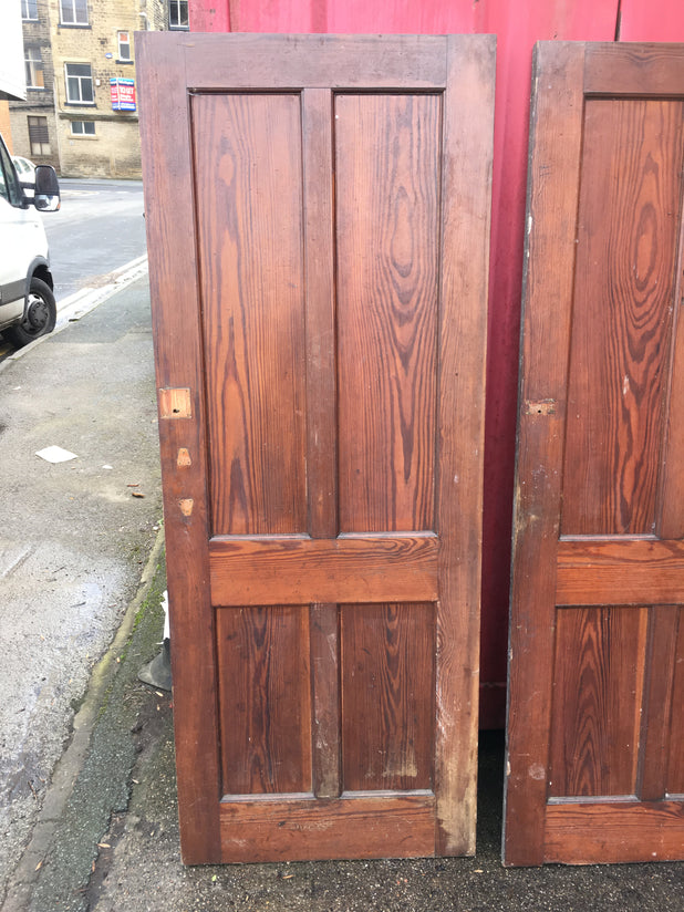 Original Vintage pitch pine 6FT internal doors 3 Available
