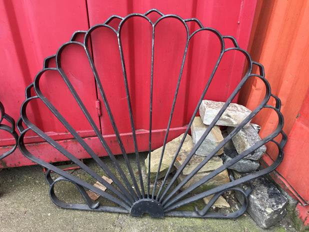 Reclaimed Wrought Iron Railings-Wall topper Fan Design