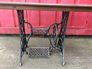 Vintage Singer Cast Iron Treadle Base Sewing Machine Table